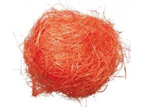 Dekorační sisal oranžový 30g