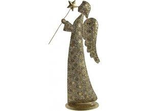 Soška anděl kov Amarra 44 cm