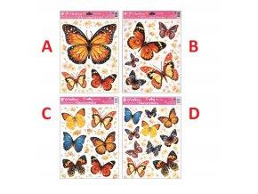 Okenní fólie motýlci 30x20cm