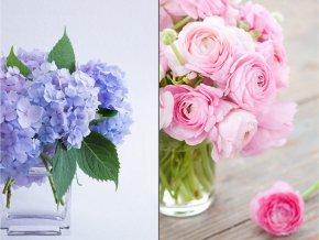 Taška dárková papírová velká, motiv květin,  mix dvou dekorů