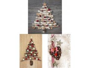 Taška dárková papírová velká, vánoční motivy, mix tří dekorů