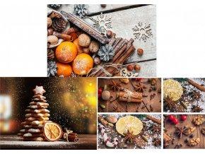 Taška dárková papírová  velká ležatá, vánoční motivy, mix tří dekorů