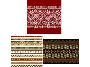 Taška dárková papírová  XL, vánoční motivy, mix tří dekorů