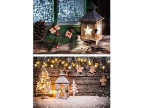 Taška dárková papírová velká, vánoční motivy