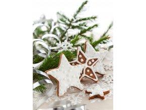 Taška dárková papírová velká, vánoční motivy, mix dvou dekorů