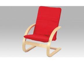 Dětské relax. křeslo | látka červená | přírodní | 38x30x64x28cm