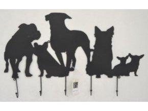 Nástěnná kovová dekorace | barva černá matná | 67,5x43cm