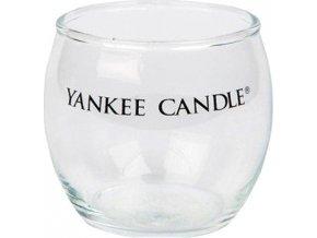 Svícen skleněný Yankee Candle Roly Poly, výška 7 cm, čirý