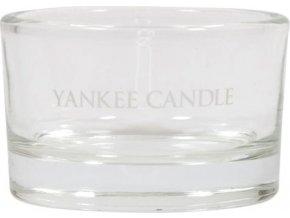 Svícen skleněný Yankee Candle Roly Poly, na čajovou svíčku, čirý
