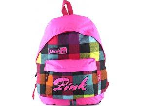Batoh Pink barevné kostky
