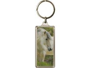 Klíčenka | 3D | Horses Dreams | bílý kůň šedá hříva