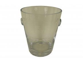 Váza skleněná kyblík 26,5cm