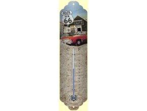 Venkovní teploměr s motivem Route 66 The Mother Road