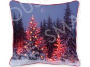 Polštář svítící, s výplní. Vánoční design. LED světlo.