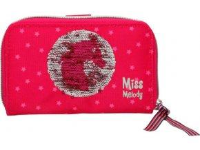 Peněženka Miss Melody Růžová s flitry