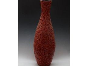Váza s dekorem dřevěných kroužků