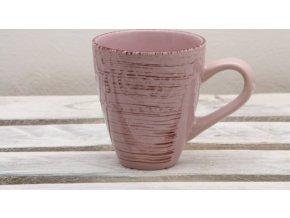 Keramický hrnek proužek růžový 350ml
