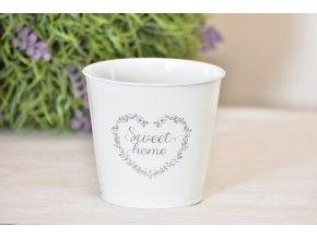 Plechový květináč Sweet home 11,5 cm