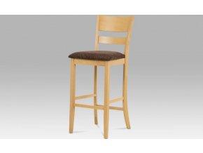 Barová židle BEZ SEDÁKU, bělený dub