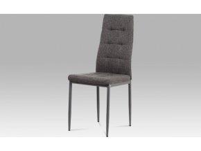 Jídelní židle, šedá látka/kov matný antracit