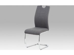 Jídelní židle, šedá látka/ekokůže/chrom