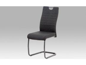 Jídelní židle, látka šedá/kov matná antracit