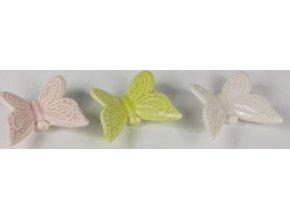 Keramický motýl 6x5,5 cm