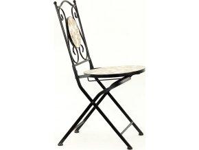 Židle kovová s mozajkou - stejnou jako je u stolu JF2206