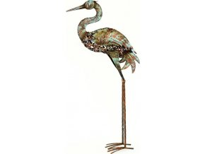 Volavka, kovová dekorace