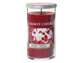 Vonná svíčka ve skleněnném válci | Yankee candle | ovocný dezert s vanilkovým krémem | 340g