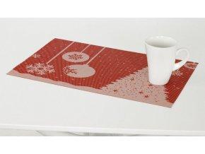 Prostírání plastové červené - Vánoční design