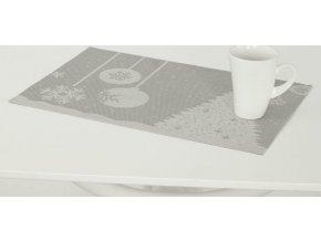 Prostírání plastové šedé - Vánoční design