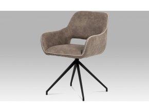 Jídelní židle, šedá látka, kov matná černá