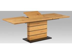 Jídelní stůl 160+60x90, divoký dub MDF, kov matná černá