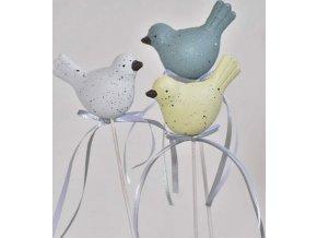 Kropenatý ptáček, slepička zápich balení 12 ks mix barev
