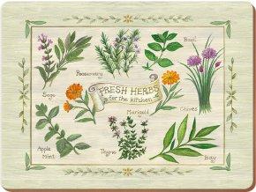 Korkové prostírání Fresh Herbs malé