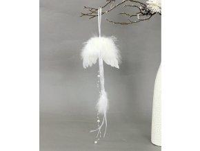 Andělská křídla z peří, barva bílá,  baleno 12ks v polybag. Cena za 1 ks.