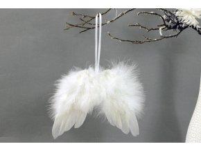 Andělská křídla z peří , barva bílá,  baleno 24 ks v polybag. Cena za 1 ks.