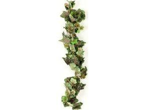 Umělá květina - girlanda vinné listy , barva zelenošedá