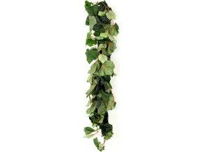 Umělá květina - girlanda vinné listy , barva zelená
