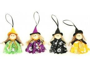 Čarodějnice, textilní dekorace, mix4 druhů, cena za 1 kus