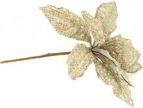 Květina umělá vazbová vánoční s glitry