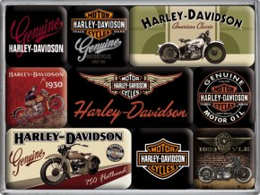 Magnetky na ledničku Harley Davidson Genuine