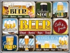 Magnetky na ledničku Beer