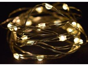 Světelný řetěz s časovačem 250 cm, 50LED teplé bílé světlo
