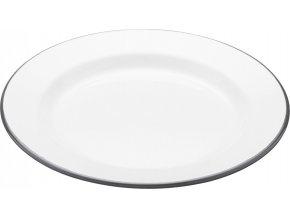 Smaltovaný jídelní talíř Living Nostalgia bílý