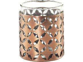 Svícen kovový Yankee Candle Moroccan Copper, výška 6 cm
