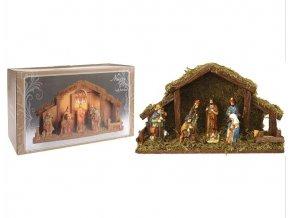 Vánoční betlém s osvětlením, 8 figurek