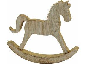 Dřevěný koník pozlacený 15 cm