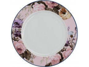 Porcelánový dezertní talíř Wild Apricity růžový